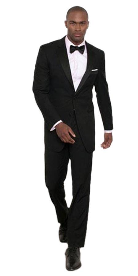 Men's Albert Nardoni Black Modern Fit 2 Button  Tuxedo Jacket