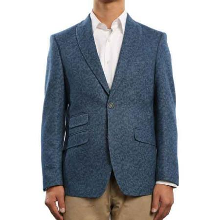 2-Button Patterned Slim Fit