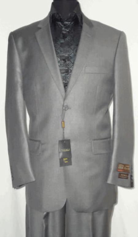 Big and Tall Size 56 to 72 2-Button Suit Textured Patterned Sport Coat Fabric Silvery Gray