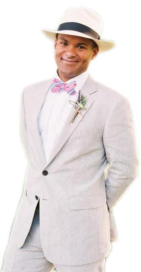 Mens 2 Button   2 Piece Grey Tuxedo Suit Jacket