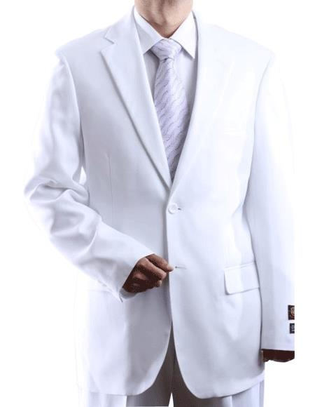 Men's Two Button 2 Button Jacket White Dress Suit Cheap Priced Business Suits Clearance Sale For Men