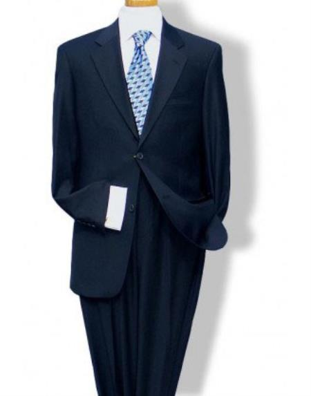 Men's Mantoni Mordern Fit 2 Button Suit Dark Navy