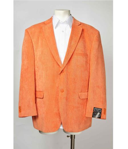 Two Button Orange Men's Blazer Graphic Printed