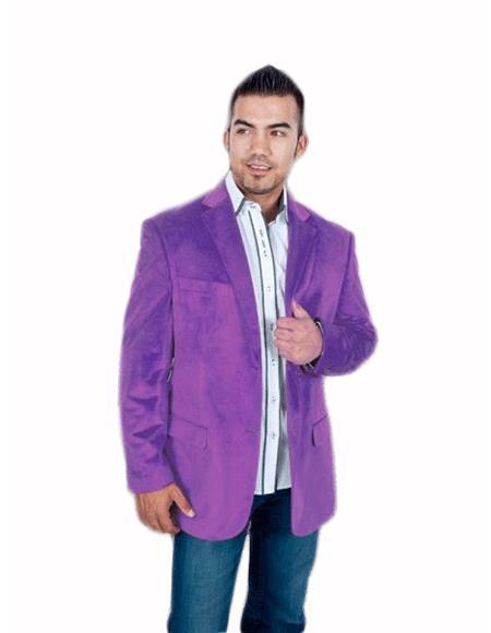 Men's Stylish 2 Button Sport Jacket Purple Discounted Affordable Velvet ~ Men's blazer Jacket