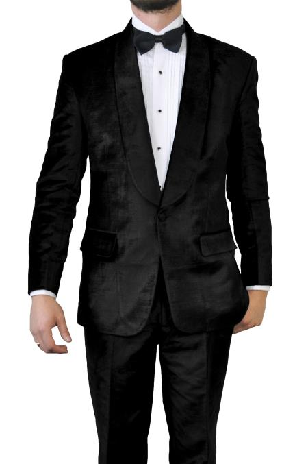 Shawl Lapel Black Velvet