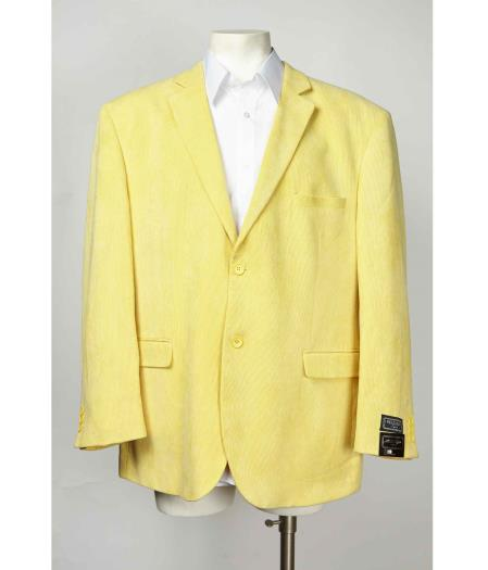 Button Mens Yellow No