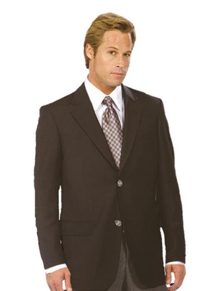 Mens Black Authentic Mantoni Brand Solid Suit- High End Suits - High Quality Suits