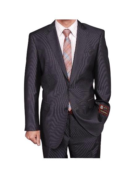 Men's Gray Micro-Stripe ~ Pinstripe 2-button discounted Cheap Priced Business Suits Clearance Sale For Men 2 Piece Suits - Two piece Business suits Suit