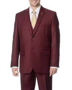 Mens 3-piece 2-button Vested Suit