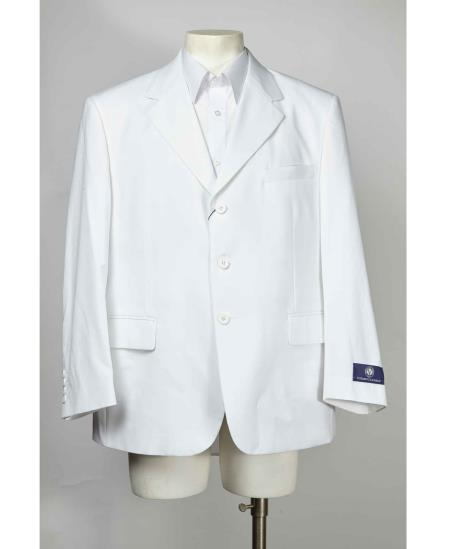 Mens Cheap Priced Designer Fashion Dress Casual Blazer For Men On Sale Three buttons Notch Lapel Blazer White