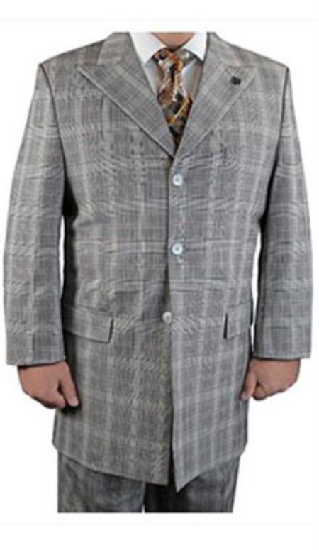 3 Button Suit Plaid