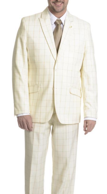 Windowpane 3 Piece Suit