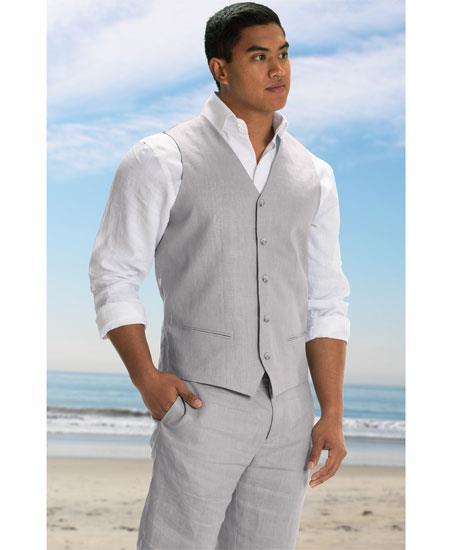 Men's Vest and Pants Set -GD1832 Linen Outfits For Men Perfect for wedding Vest & Pants