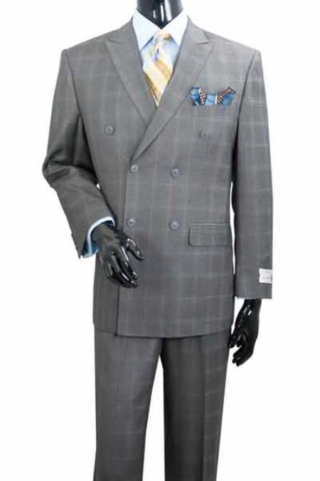 Peak Lapel Plaid Double