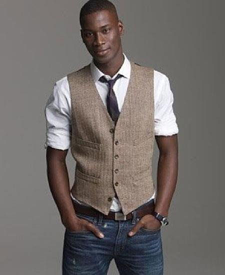 Men's Vest and Pants Set - Linen Outfits For Men Perfect for wedding Vest & Pants