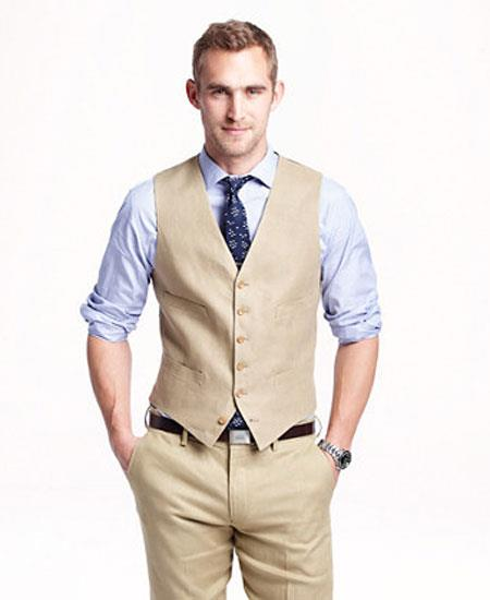 Mens Vest and Pants Set - Linen Outfits For Men Perfect for wedding Vest & Pants