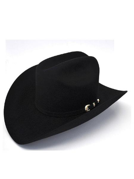 Mahan Hats-6X Real Black