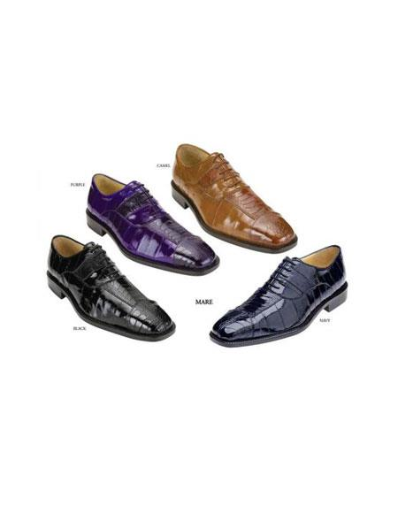 Authentic Genuine Skin Italian Mens Shoes Available Colors In Black, Purple, Camel ~ Khaki And Navy