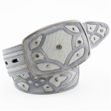 Exotic Belt Authentic White