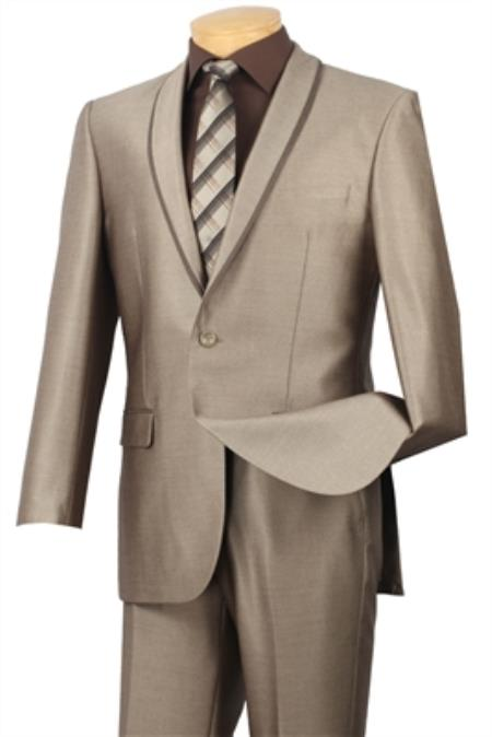 Mens Beige  2 button suit jacket