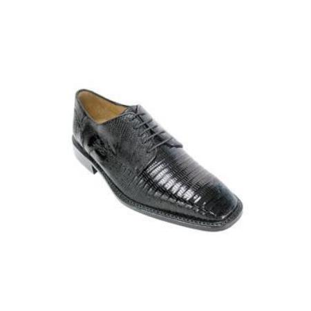 Olivo Lizard Shoes Black