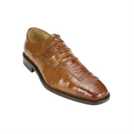 Mare Ostrich/Eel Shoes Camel