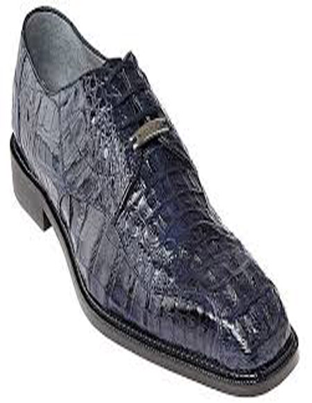 Belvedere Chapo Navy All-Over Genuine Hornback Crocodile ~ World Best Alligator ~ Gator Skin Shoes