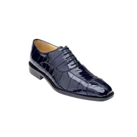 Mare Ostrich/Eel Shoes Navy