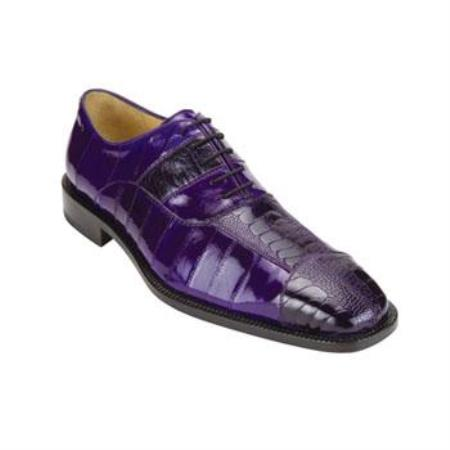 Mare Ostrich/Eel Shoes Purple