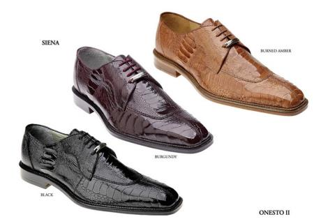 Authentic Genuine Skin Italian Mens Shoes Available Colors In Black Color