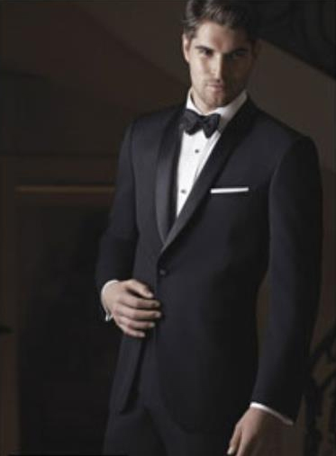 Braydon Black 1-Button Shawl Tuxedo Ike Evening by Ike Behar Tuxedo Authentic Brand