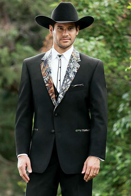 The Camouflage Tuxedo Suit Camo Tux Pattern On The Notch