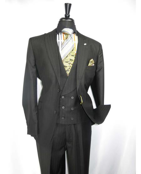 Black Vested 2 Button