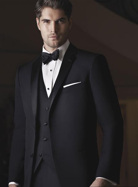 Evening Notch Black 2 Button Notch Tuxedo Ike Evening by Ike Behar Tuxedo Authentic Brand
