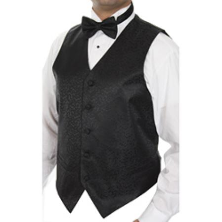 Mens Four-pieceDress Tuxedo Wedding Vest ~ Waistcoat ~ Waist coat Set Buy 10 of same color Tie For $25 Each
