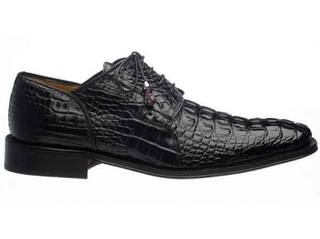 Mens Exotic Black Derby