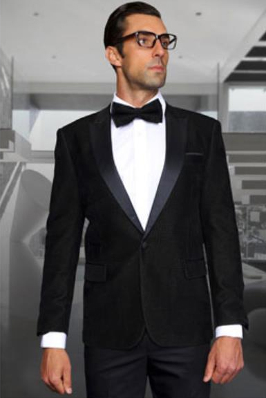 Men Black Paisley Velvet Fabric Discounted on Sale