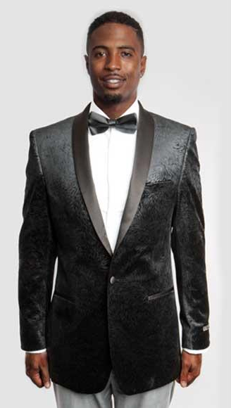 Empire Mens Cheap Priced Designer Fashion Dress Casual Blazer On Sale Side Vents Satin Shawl Lapel Black Blazer
