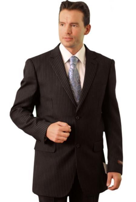 SKU#WM3848 Poly/Rayon Mens Classic affordable suit online sale Black