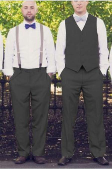 Mens Any Color Matching Dress Tuxedo Plus Any Color Shirt & Tie or Bow tie Set Package Wedding Vest & Pants Set