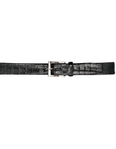 Real Authentic Skin Black All-Over Genuine Crocodile Hornback Belt