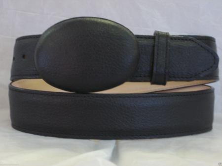 SKU#JR06W Genuine Authentic Black Deer Western Cowboy Belt