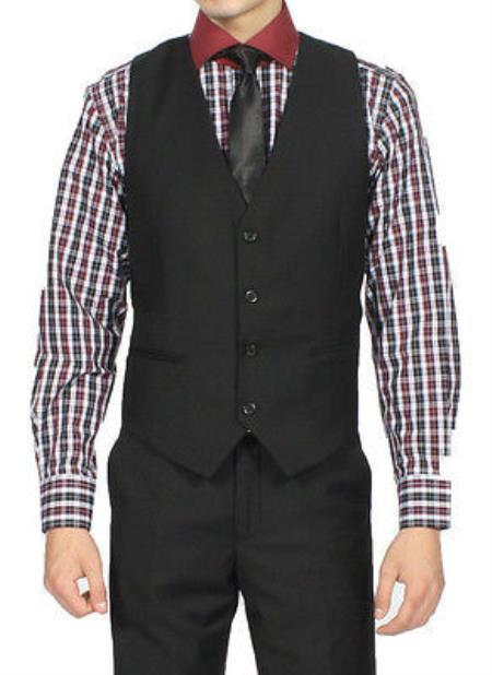 Black Vest & Tie