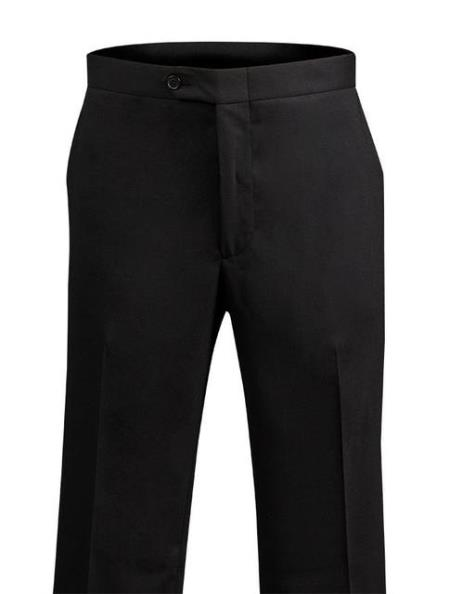 Men's Black Dress Pants 110's Wool unhemmed unfinished bottom