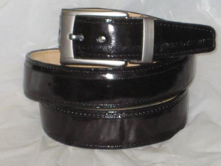 Buy AC-875 Mens Genuine Authentic Black Eel Belt