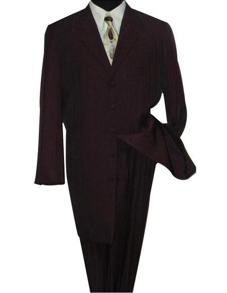 Men's Black Jackson style Fashion Dress Long Zoot Suit