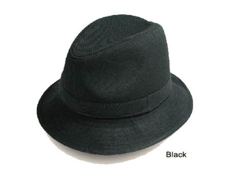 SKU#C38 New Mens Fedora Trilby Hat Black