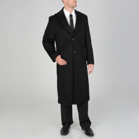 Harvard Black Wool-cashmere Full-length