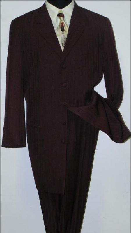 SKU# LZT99 Mens Black Jackson style Fashion Dress Long Zoot Suit