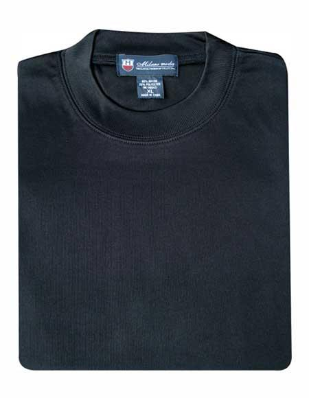 Men's Solid Regular Fit 80% Rayon 20% Polyester Short Sleeves Knitted Black Sweater
